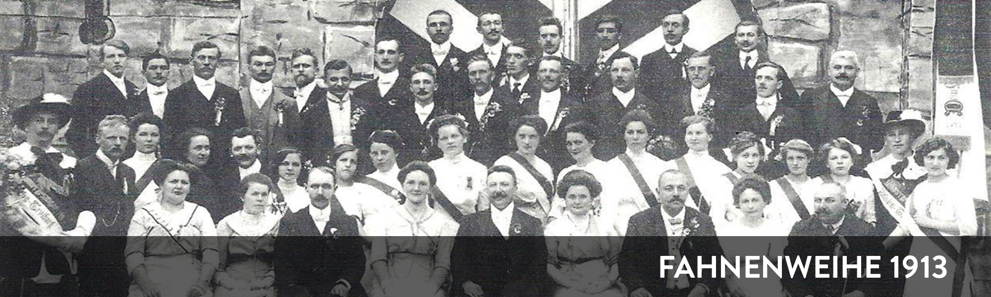 Geschichte des gemischten Chor Althofen - Fahnenweihe 1913
